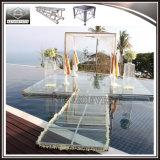 Altura ajustável da plataforma acrílica ao ar livre portátil do estágio do casamento