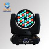 Indicatore luminoso capo mobile caldo approvato del fascio di vendita 36*3W 4in1 RGBW LED del Ce di Rasha con la porta di 5pins DMX per il partito del randello del DJ di karaoke