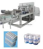 Equipo plástico automático de la empaquetadora del abrigo de la botella del encogimiento de la botella del animal doméstico de la bebida de la película del PE