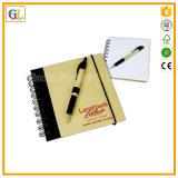 Qualitäts-nach Maß gewundenes Notizbuch