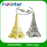 Movimentação do flash do USB do metal do USB Pendrive Thumbdrive da torre Eiffel