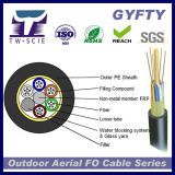 GYFTY aérea 288/144/128/92/36/6 Core Single Mode cable de fibra óptica