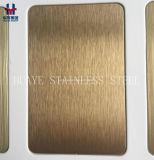 Hoja coloreada revestida Titanium del acero inoxidable del oro de Rose del oro de la alta calidad plateada de metal