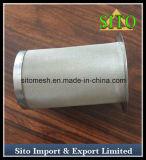 Filtro tecido do cilindro do engranzamento de fio do aço inoxidável 304