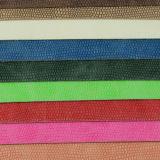 トカゲの穀物PUの総合的なハンドバッグの革(8557)