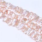 Keshi Biwaの形の淡水の真珠の繊維の卸売