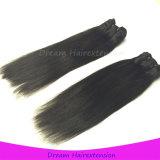 Человеческие волосы 100% девственницы качества машины Weft двойные нарисованные прямые