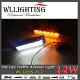 Indicatore luminoso d'avvertimento di bianco 12 LED del Consigliere ambrato ambrato di traffico