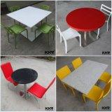 固体Surface Fast Food Dining TablesおよびChairs