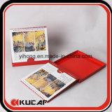 Calendario de escritorio de empaquetado del rectángulo de la impresión en offset de la fuente de la oficina de aduana