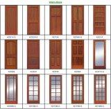 Portes en bois principales de double porte de modèle chaud (porte en bois)