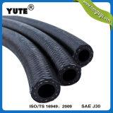 Mangueira de combustível preta trançada da gasolina da fibra de borracha de Yute 4mm Eco