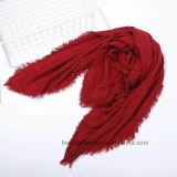 Plaine de mode carré de couleur dans l'écharpe cachemire 100% acrylique (HP10)