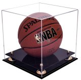 Cas d'exposition acrylique de luxe de basket-ball