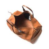 Saco de Duffle de couro de Tan do vintage do preço de fábrica de China para a viagem do negócio