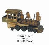 Loja mesa de madeira para escritórios/Desktop Decoration comboio (HC12''-0643)