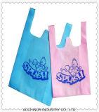 環境に優しく再使用可能なHDPEのTシャツ袋の一重項袋のベストの買物袋