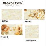 300X600mm de inyección de tinta de cerámica de suelo y azulejos de pared con patrón de flores (SA9838A)
