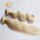 Capelli cambogiani di Remy di prezzi di fabbrica che tessono estensione dei capelli di colore chiaro