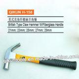 Tipo britânico martelo de garra com o punho revestido borracha
