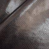 Cuoio sintetico impresso del Faux dell'unità di elaborazione del nero scuro per l'indumento