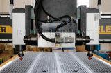 中国Top Companyからの8X4 CNCのルーター機械が付いているマルチヘッド4軸線CNCのルーター1325年