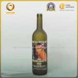 Autocollant de haute qualité en verre vert foncé Bouteille de vin (153)
