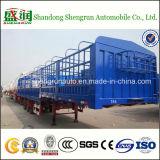 Nut 50tons 3 de Semi Aanhangwagen van de Staak van de Omheining van het Net van het Vervoer van het Vee van de As