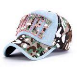 Casquillo de encargo del deporte de Embroideried del Applique de la tela de Camoglage de la insignia, gorra de béisbol, casquillo del ocio en varia talla, material y diseño