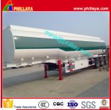 De 3 essieux de pétrole brut de camion-citerne de transport de réservoir de carburant remorque semi