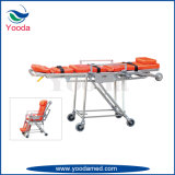 Civière d'ambulance de fauteuil roulant d'alliage d'aluminium
