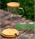 Tazza di caffè di vetro doppia di resistenza termica di sicurezza per il grossista
