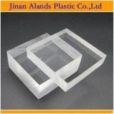 Personalizar gran bloque de acrílico transparente de plexiglás bloque para el comercio al por mayor