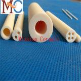 Usinagem personalizada 99,7% Al2O3 / 96% Tubo de isolamento de cerâmica Alumina