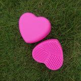 Щетка запитка инструмента чистки силикона уборщика щетки состава формы сердца косметическая