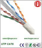 Indoor UTP CAT6 paire symétrique de câbles pour les communications numériques