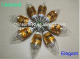 Iluminação plástica do bulbo da vela 3wa 3wb 5wa 5wb do diodo emissor de luz da alta qualidade do projector do diodo emissor de luz