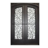 Quadratische oberste kundenspezifische Sicherheits-Nizza Eisen Entrace Tür mit Glas