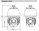 De Camera Hdcvi van IRL PTZ van het Sterrelicht van de Koepel van de Snelheid van Dahua 2MP 25X (sd6c225i-HC)