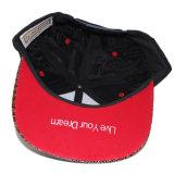 3D personalizadas bordados acrílico Piel de serpiente Brim Snapback Sombreros y Gorras