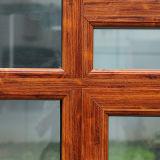Guichet en aluminium de tissu pour rideaux de profil d'interruption thermique colorée en bois avec le blocage multi K03032