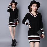 고품질 봄 가을 긴 소매 스웨터 뜨개질을 하는 복장 단단한 관례에 의하여 뜨개질을 하는 여자 스웨터