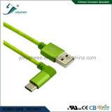 Il USB digita a C 90 gradi inclinati a USB2.0 a/Male con la testa e la treccia di Matel per i telefoni/computer portatili
