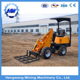 構築機械装置の中国の車輪のローダーの坑夫のスキッドの雄牛の小型ローダー