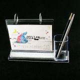 Calendário de mesa acrílico com suporte de caneta (BTR-H1026)