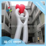 10m de haut Publicité de plein air gonflable modèle coeur aimant avec ventilateur