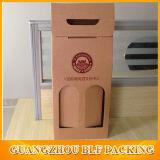 Verre de vin en carton ondulé Kraft Emballage cadeau Box pour 2 bouteille
