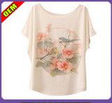 Fashion Sexy T-shirt impresso para as mulheres (W193)