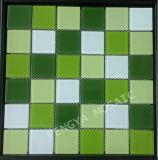 Crystal de carreaux polis à la frontière avec la couleur verte / verre intérieur Wall Tile