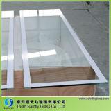 Vidro pintado traseiro de alta qualidade de 4mm para exibição de exibição